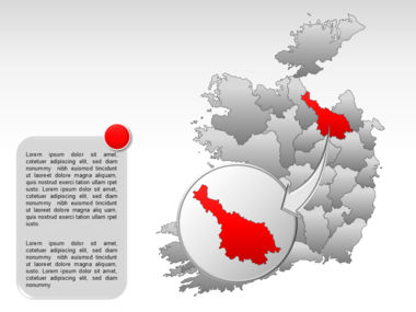 Ireland PowerPoint Map Slide 17