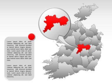Ireland PowerPoint Map Slide 27