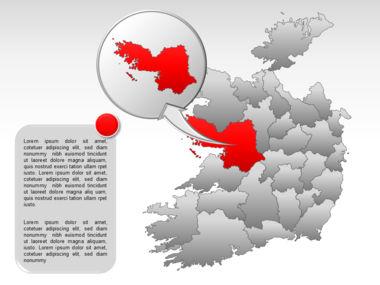 Ireland PowerPoint Map Slide 28