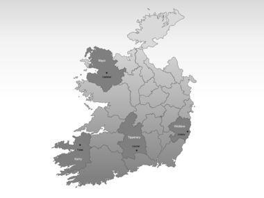 Ireland PowerPoint Map, Slide 3, 00007, Ireland — PoweredTemplate.com