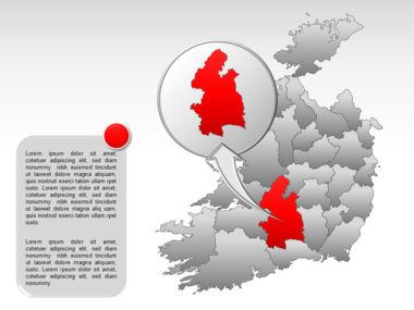 Ireland PowerPoint Map Slide 35