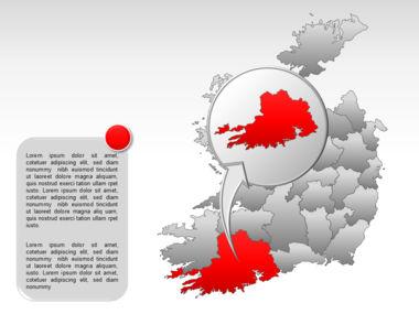 Ireland PowerPoint Map Slide 38