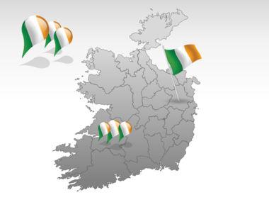 Ireland PowerPoint Map, Slide 4, 00007, Ireland — PoweredTemplate.com