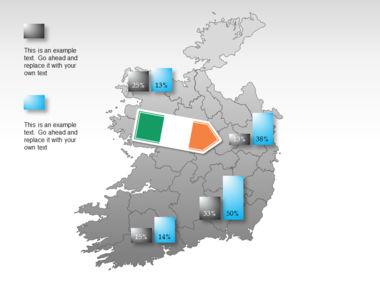 Ireland PowerPoint Map Slide 41