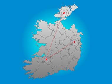 Ireland PowerPoint Map Slide 6