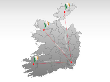 Ireland PowerPoint Map Slide 7