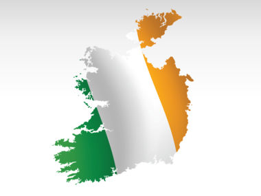Ireland PowerPoint Map Slide 9