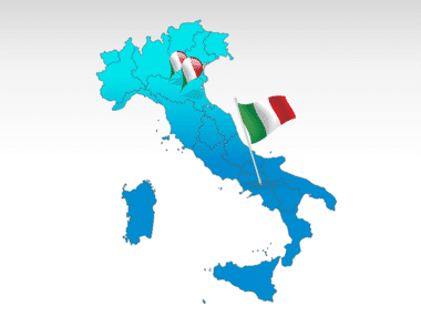 Italy PowerPoint Map, 00008, Italy — PoweredTemplate.com