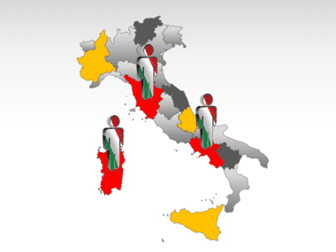 Italy PowerPoint Map Slide 12