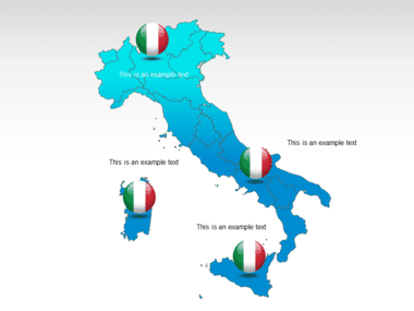 Italy PowerPoint Map Slide 13