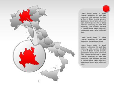Italy PowerPoint Map Slide 17