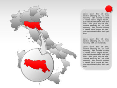 Italy PowerPoint Map Slide 18