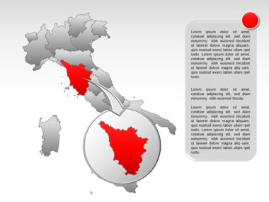 Italy PowerPoint Map Slide 22