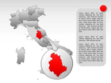 Italy PowerPoint Map Slide 23