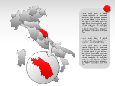 Italy PowerPoint Map Slide 24