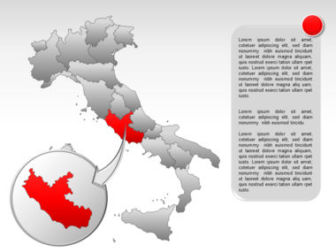 Italy PowerPoint Map Slide 27