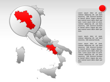 Italy PowerPoint Map Slide 28