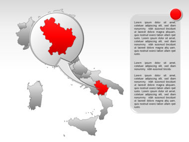 Italy PowerPoint Map Slide 30