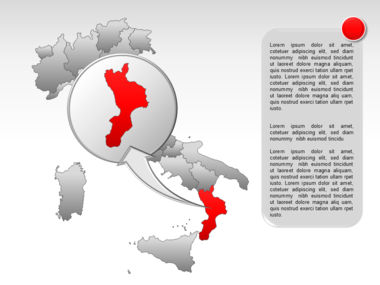Italy PowerPoint Map Slide 31