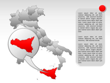 Italy PowerPoint Map Slide 32