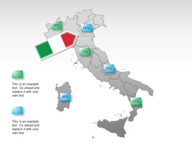 Italy PowerPoint Map Slide 34