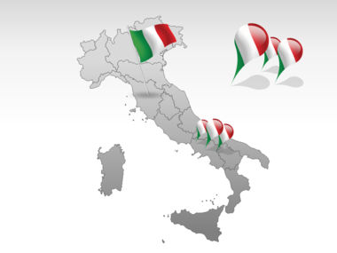 Italy PowerPoint Map, Slide 4, 00008, Italy — PoweredTemplate.com