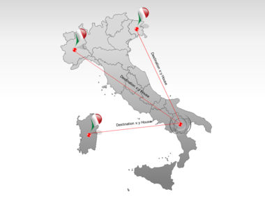 Italy PowerPoint Map Slide 7