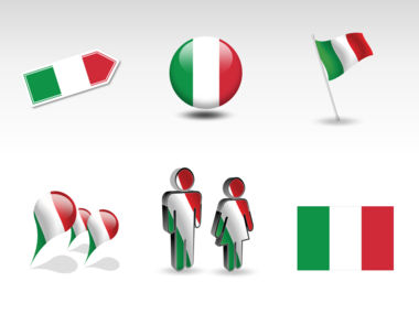 Italy PowerPoint Map Slide 8