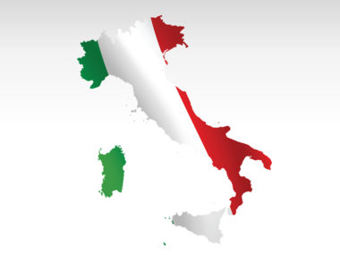 Italy PowerPoint Map Slide 9