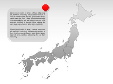 Japan PowerPoint Map, Slide 11, 00009, Presentation Templates — PoweredTemplate.com