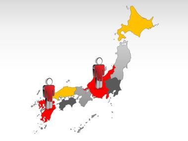 Japan PowerPoint Map, Slide 12, 00009, Presentation Templates — PoweredTemplate.com