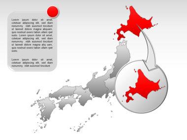 Japan PowerPoint Map, Slide 14, 00009, Presentation Templates — PoweredTemplate.com