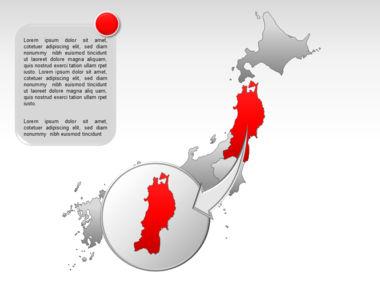 Japan PowerPoint Map, Slide 15, 00009, Presentation Templates — PoweredTemplate.com