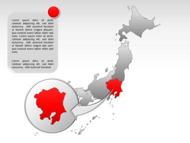 Japan PowerPoint Map, Slide 16, 00009, Presentation Templates — PoweredTemplate.com