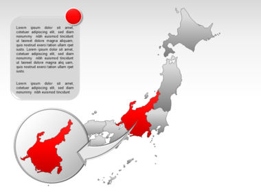 Japan PowerPoint Map, Slide 17, 00009, Presentation Templates — PoweredTemplate.com