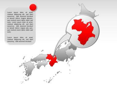 Japan PowerPoint Map, Slide 18, 00009, Presentation Templates — PoweredTemplate.com