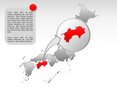 Japan PowerPoint Map, Slide 19, 00009, Presentation Templates — PoweredTemplate.com