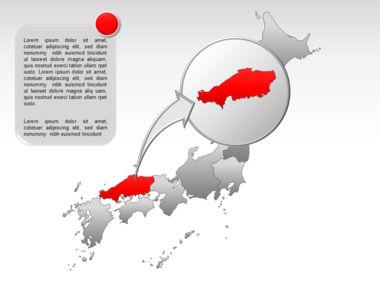 Japan PowerPoint Map, Slide 20, 00009, Presentation Templates — PoweredTemplate.com