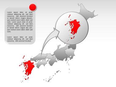 Japan PowerPoint Map, Slide 21, 00009, Presentation Templates — PoweredTemplate.com
