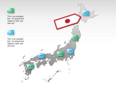 Japan PowerPoint Map, Slide 22, 00009, Presentation Templates — PoweredTemplate.com