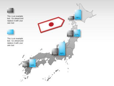 Japan PowerPoint Map, Slide 23, 00009, Presentation Templates — PoweredTemplate.com
