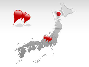 Japan PowerPoint Map, Slide 4, 00009, Japan — PoweredTemplate.com
