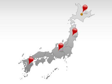 Japan PowerPoint Map, Slide 5, 00009, Presentation Templates — PoweredTemplate.com