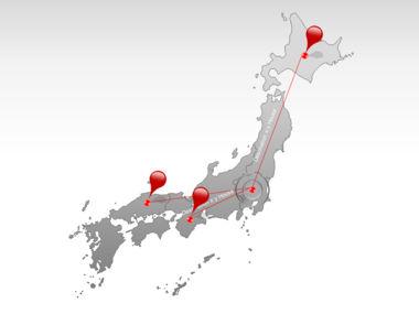 Japan PowerPoint Map, Slide 7, 00009, Presentation Templates — PoweredTemplate.com