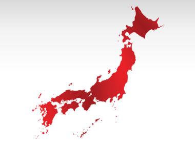 Japan PowerPoint Map, Slide 9, 00009, Presentation Templates — PoweredTemplate.com