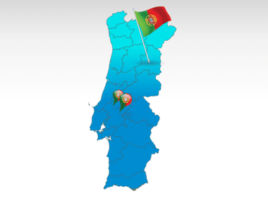 Portugal: Carte PowerPoint de Portugal #00010