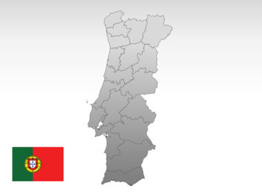 Portugal PowerPoint Map, Slide 10, 00010, Presentation Templates — PoweredTemplate.com