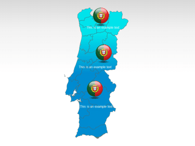 Portugal PowerPoint Map, Slide 12, 00010, Presentation Templates — PoweredTemplate.com