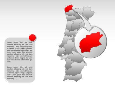Portugal PowerPoint Map, Slide 13, 00010, Presentation Templates — PoweredTemplate.com