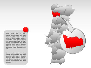 Portugal PowerPoint Map, Slide 15, 00010, Presentation Templates — PoweredTemplate.com
